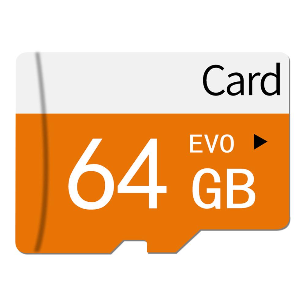TF9114 64GB MicroSD Card TF Card USB3.0 Interface High Speed Class 10 - Orange