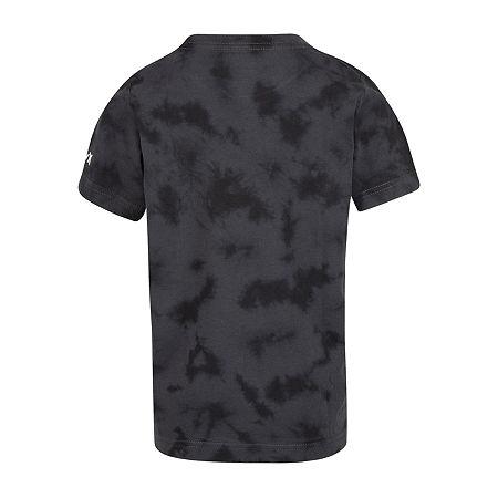 Hurley Little Boys Crew Neck Short Sleeve Graphic T-Shirt, 7 , Black