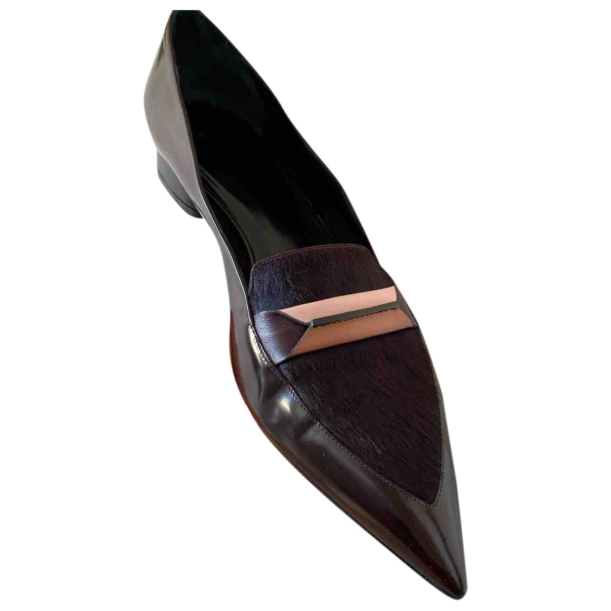 Paul Smith \N Burgundy Patent leather Ballet flats for Women 7 UK