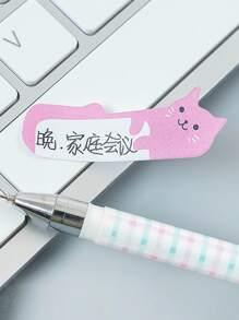 240pcs Cartoon Cat Shaped Sticky Note