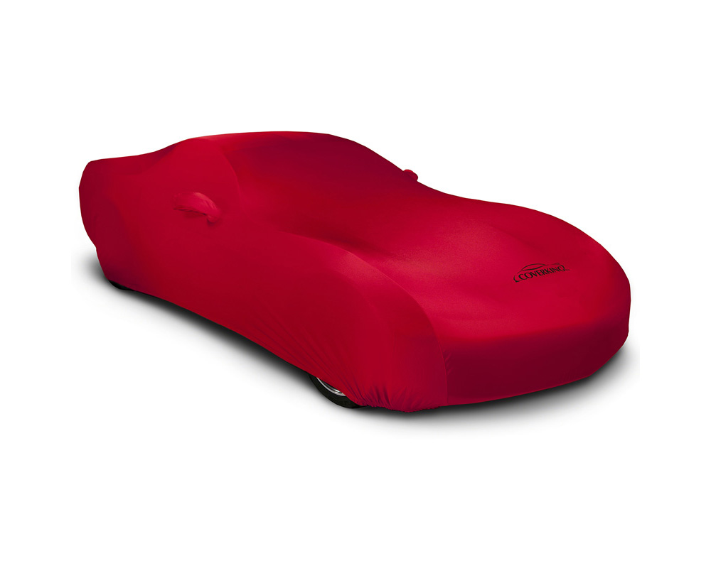 Coverking CVC3SS94KI9529 CVC3SS94 Satin Stretch Red Custom Car Cover Kia Stinger 2018-2021