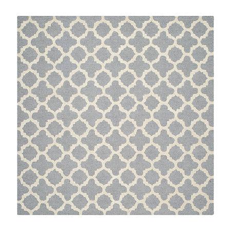Safavieh Griselda Geometric Hand Tufted Wool Rug, One Size , Silver