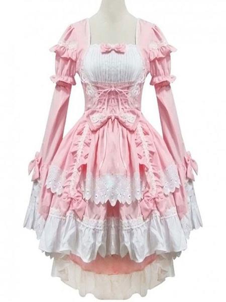 Milanoo Classic Lolita OP Dress Ruffles Black Long Sleeves Lolita One Piece Dresses