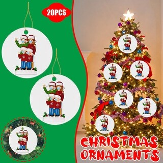 Wood Art Personalized Survived Family Of Ornament 2020 Christmas Decor - 3.93x5.9x1.96 inch (D)