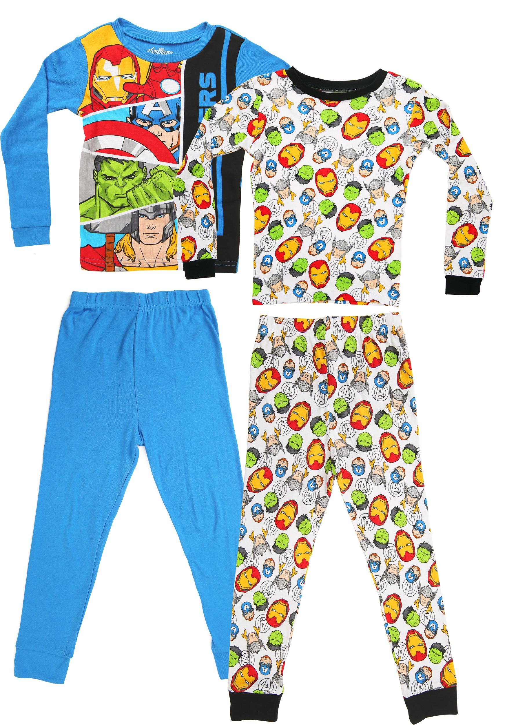 Kids Marvel Avengers 4 Piece Sleepwear Set
