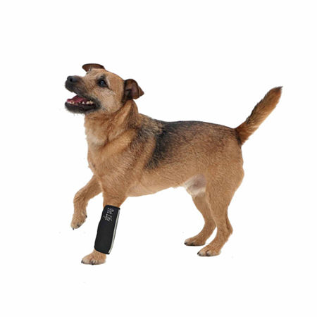 The Pet Life Extreme-Neoprene Joint Protective Reflective Pet Sleeves, One Size , Black