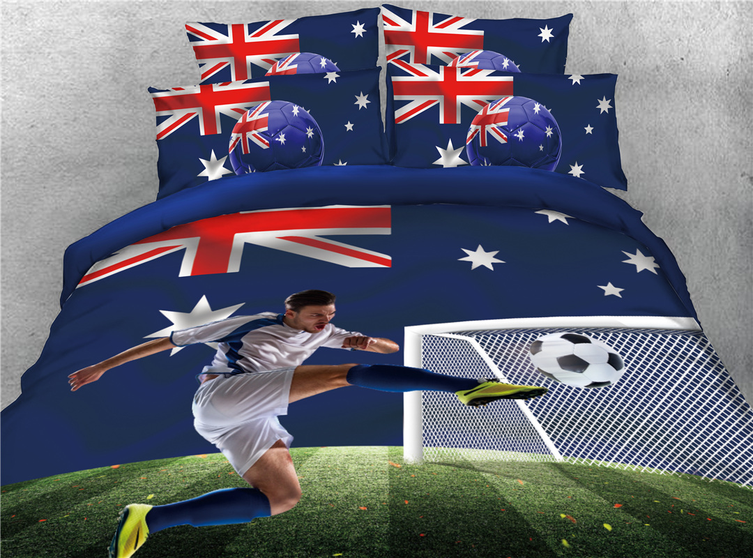 3D Group C World Cup Soccer Printed 4-Piece Bedding Sets/Duvet Covers