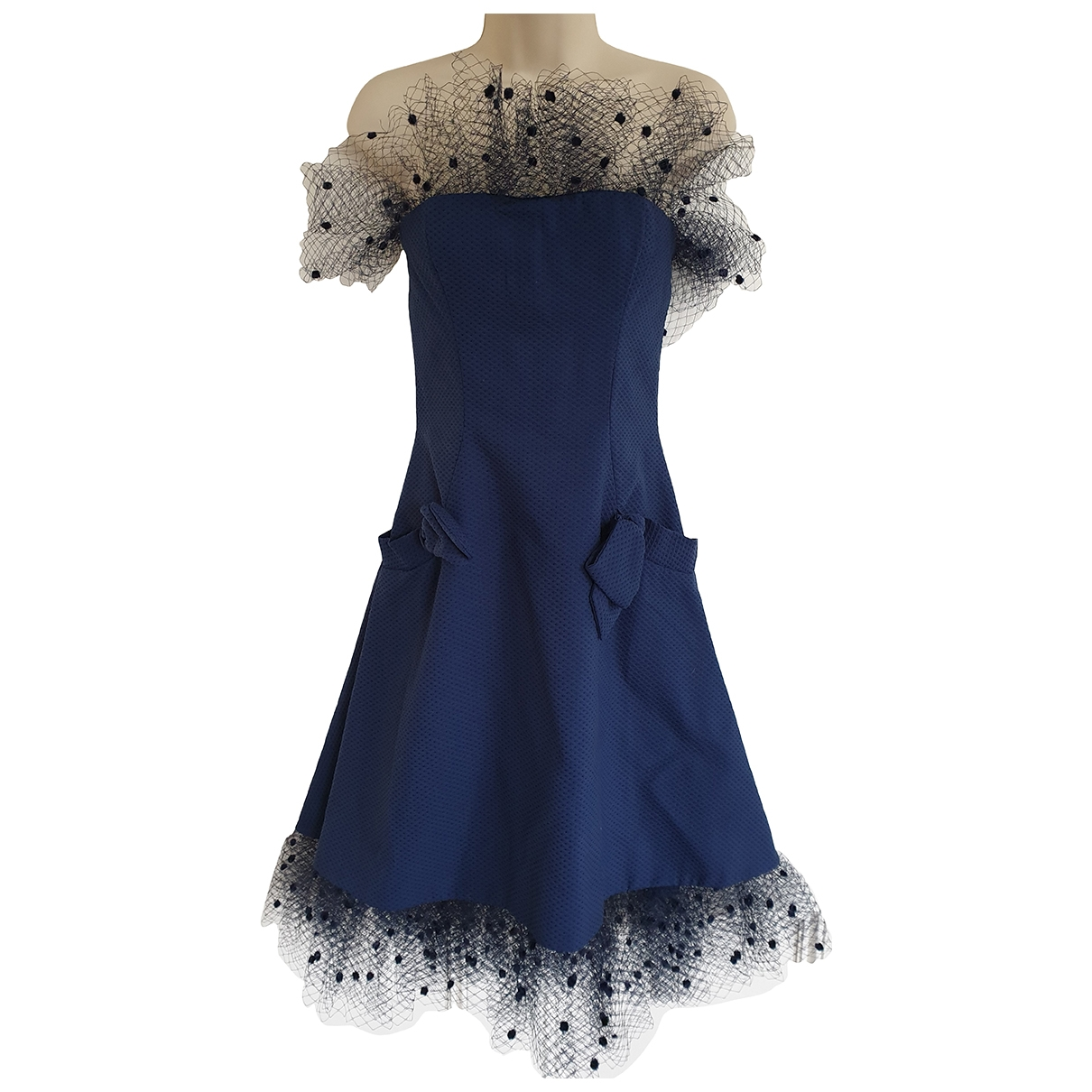 Alexis Mabille \N Blue Cotton dress for Women 38 FR
