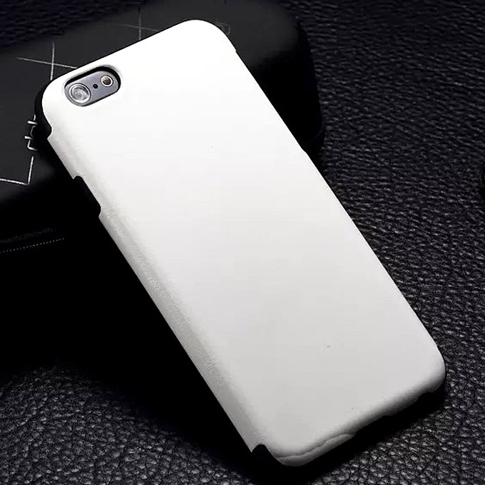 New Luxury TPU Leather Back Case Cover For iPhone 6 Plus - White
