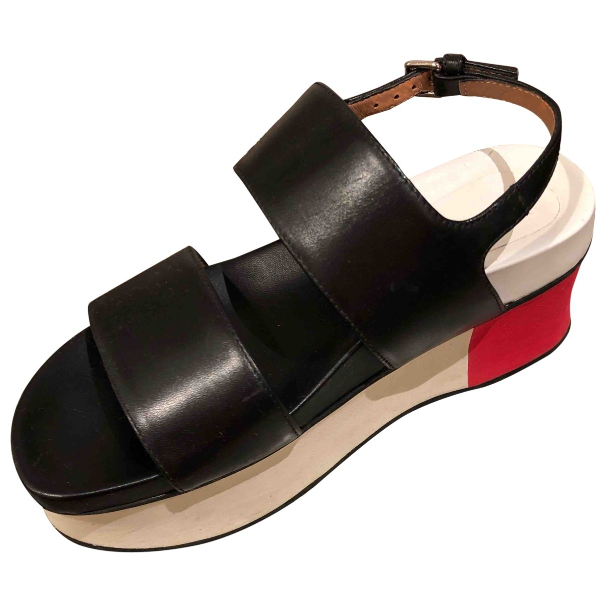 Marni \N Black Leather Sandals for Women 35 EU