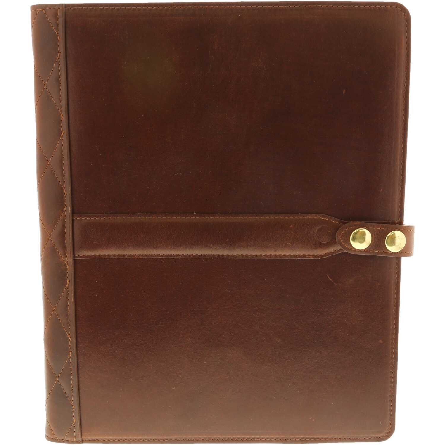 Steel Timber Leather - Executive Tablet Folio in Brown - Brown