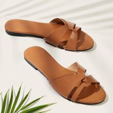Open Toe Cut Out Sliders