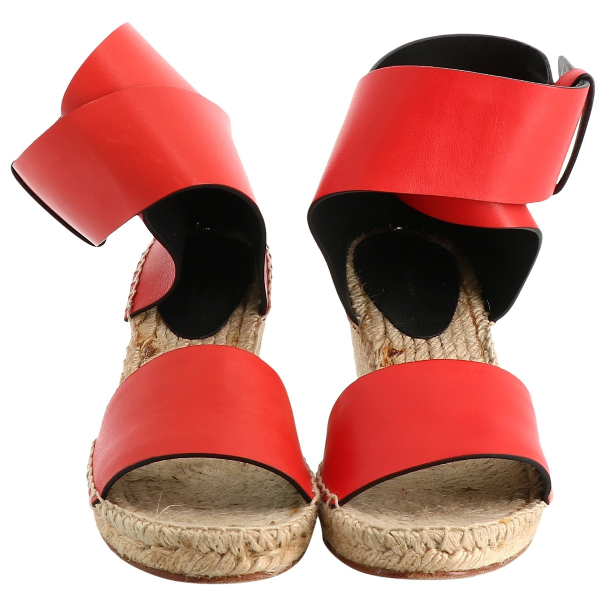 Celine \N Red Leather Sandals for Women 38 EU