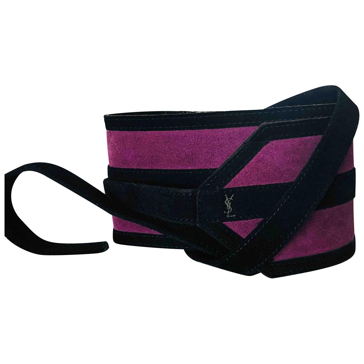 Yves Saint Laurent \N Purple Leather belt for Women S International