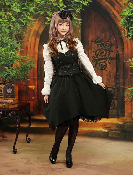 Milanoo Multi Color Bow Long Sleeves Jacquard Cute Lolita Outfits