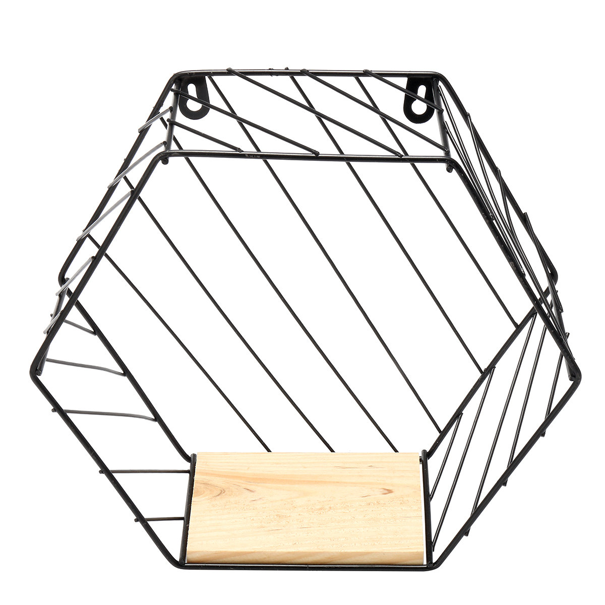 Iron Hexagon Wall Wire Shelf Holder Twill Trellis Design Home Decor