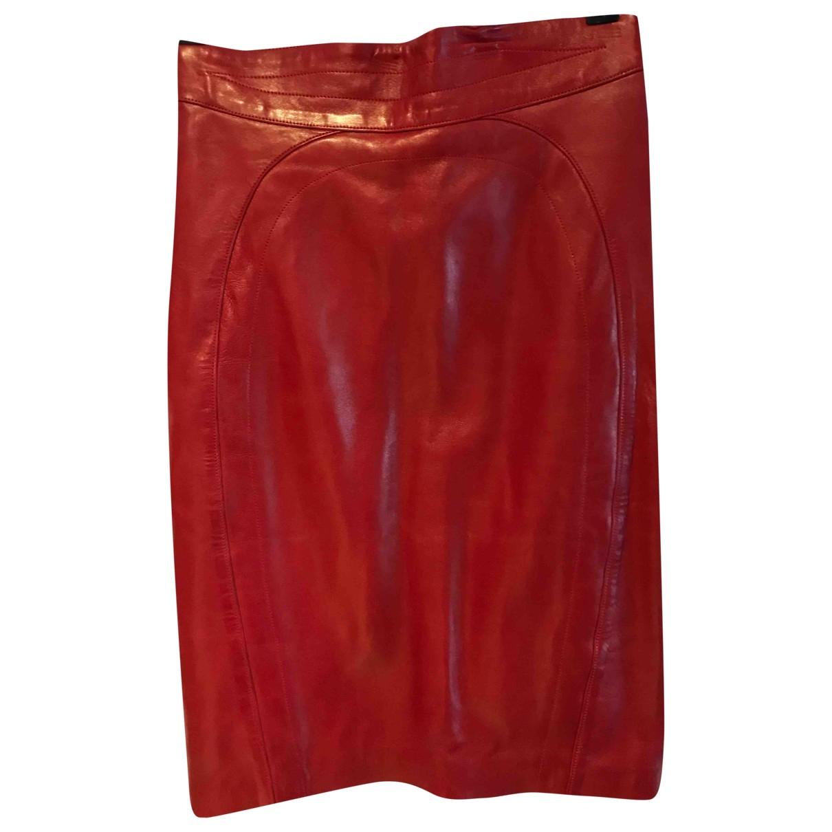 Jitrois \N Red Leather skirt for Women 42 FR