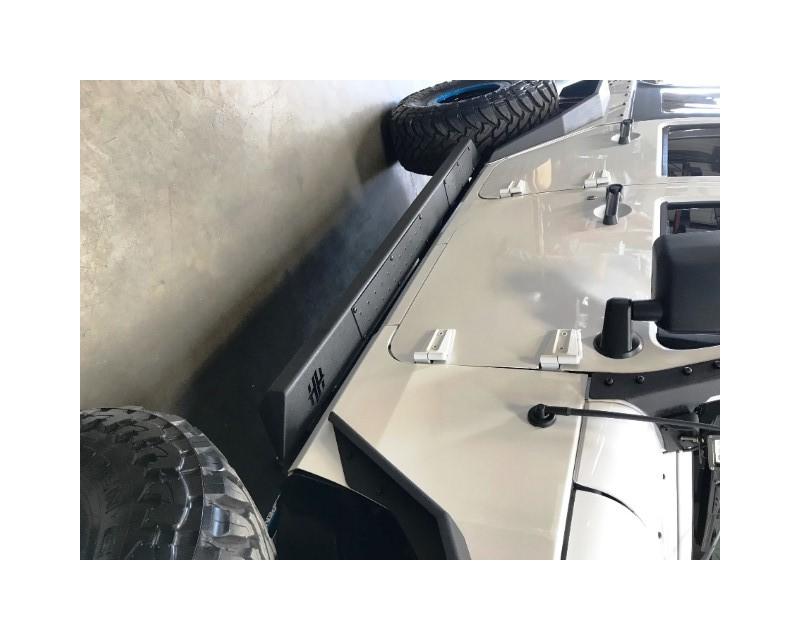 Hammerhead Armor 600-56-0633 Jeep JK Rock Rails Set For 07-18 Wrangler JK 4 Door Black