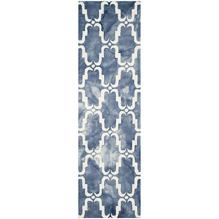 Safavieh Dip Dye Collection Wendell Geometric Runner Rug, One Size , Multiple Colors