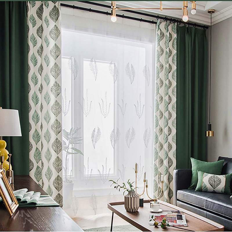 Delicate Embroidered Custom Ready Made Sheer Curtains with Soft and Durable Chiffon for Elegant Living Room Bedroom Decor