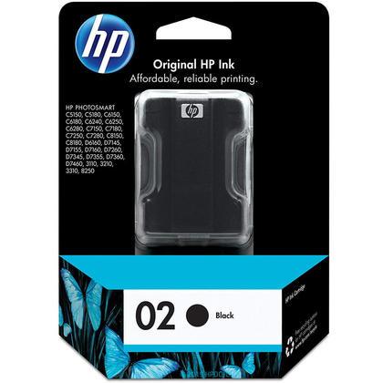 HP 02 C8721WC C8721WN cartouche d'encre originale noire