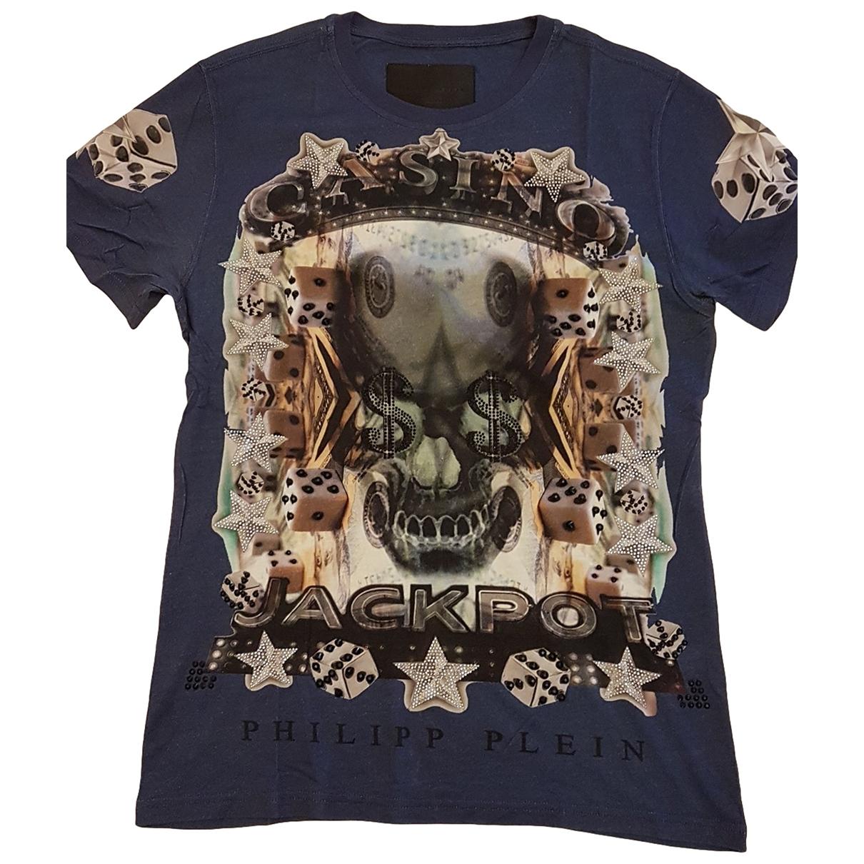 Philipp Plein \N Blue Cotton T-shirts for Men L International
