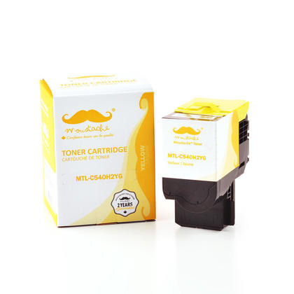 Compatible Lexmark C540H2YG Yellow Toner Cartridge High Yield - Moustache@