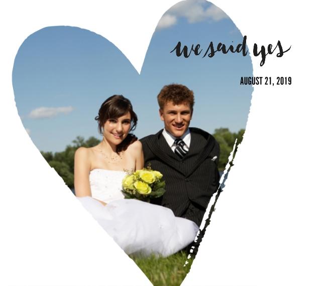 Wedding Canvas Print, 20x24, Home Décor -We Said Yes