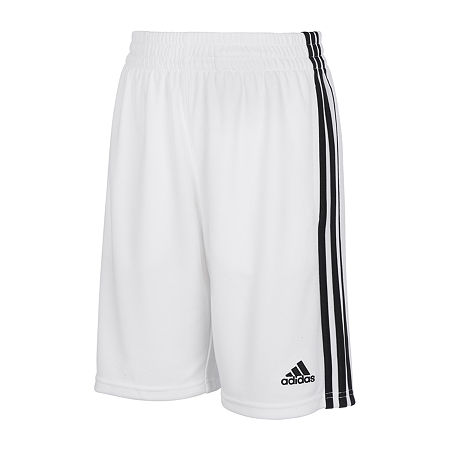 adidas Little Boys Workout Shorts, 7 , White