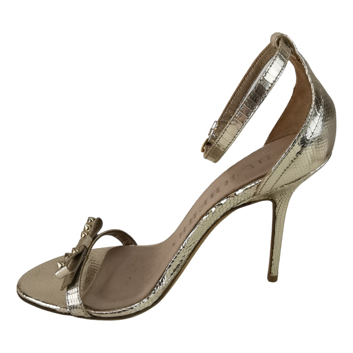 Burberry \N Silver Leather Sandals for Women 37 EU