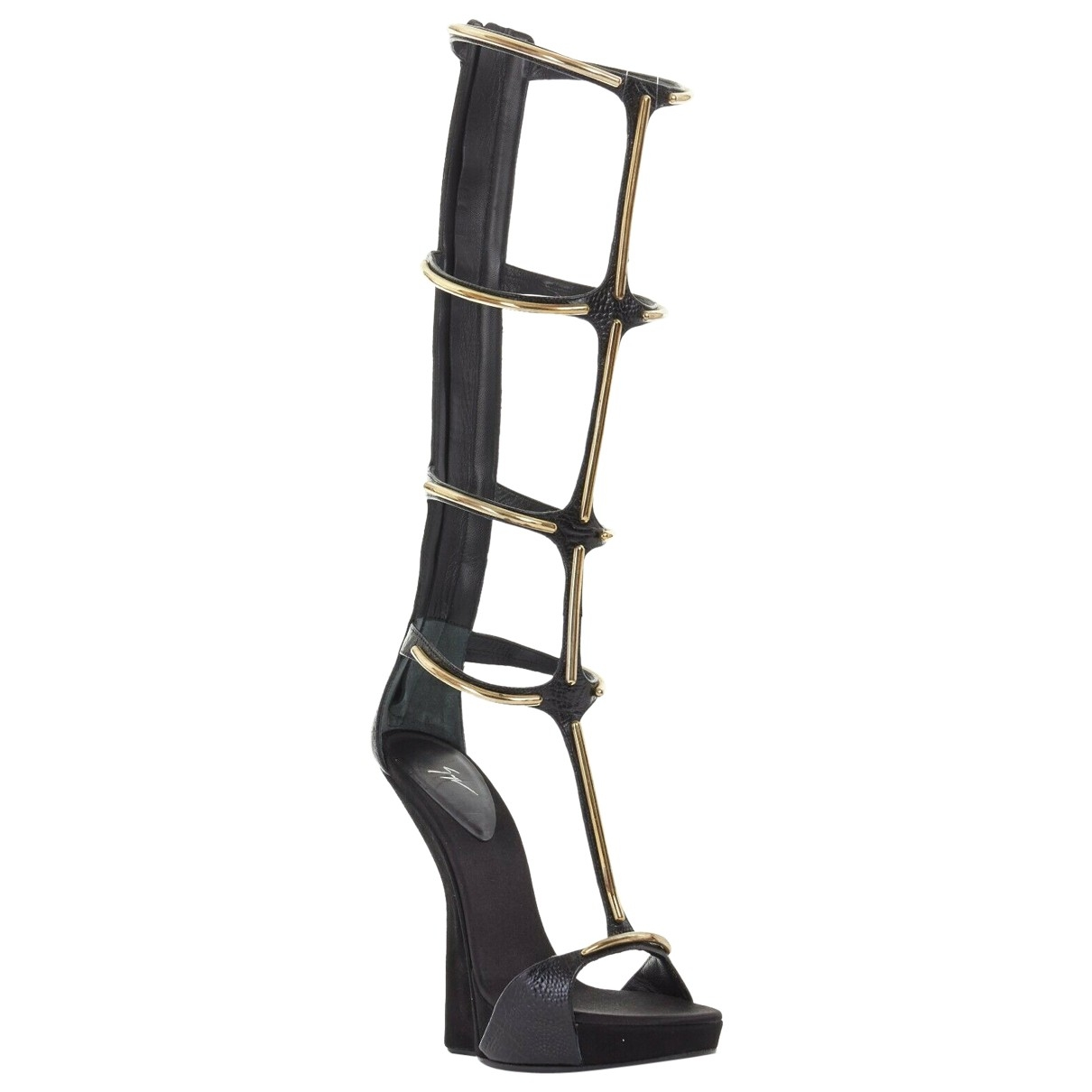 Giuseppe Zanotti \N Black Suede Sandals for Women 38 EU