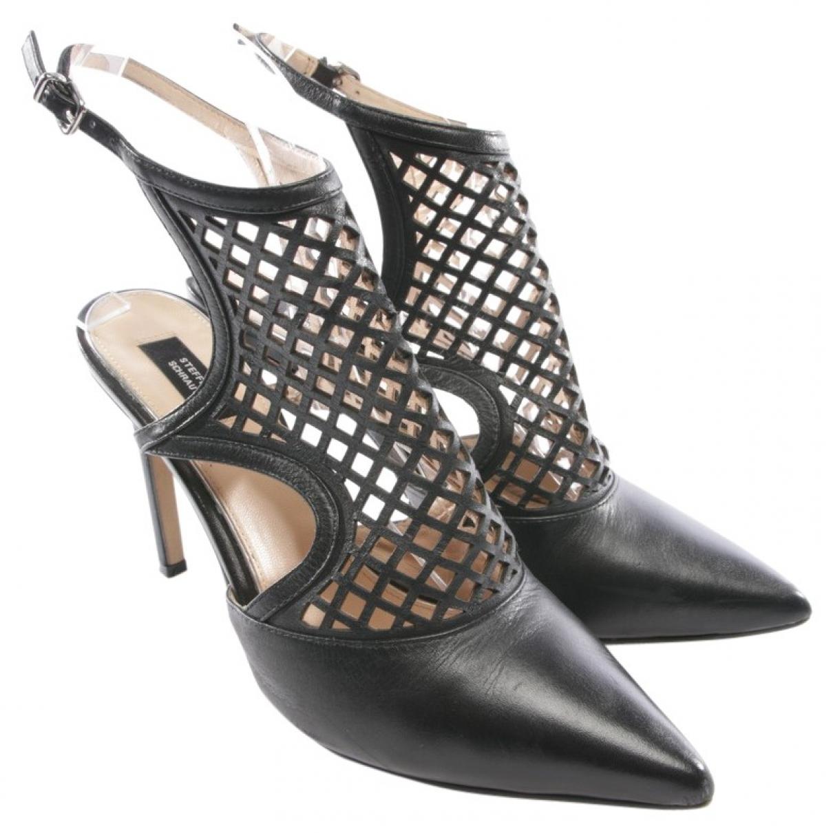 Steffen Schraut \N Black Leather Sandals for Women 38 EU