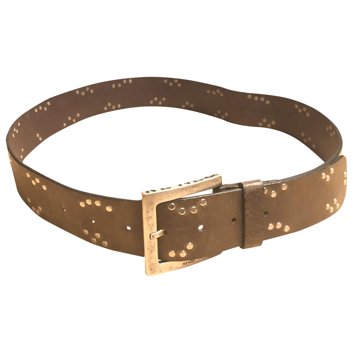 Kenzo \N Brown Leather belt for Men L international