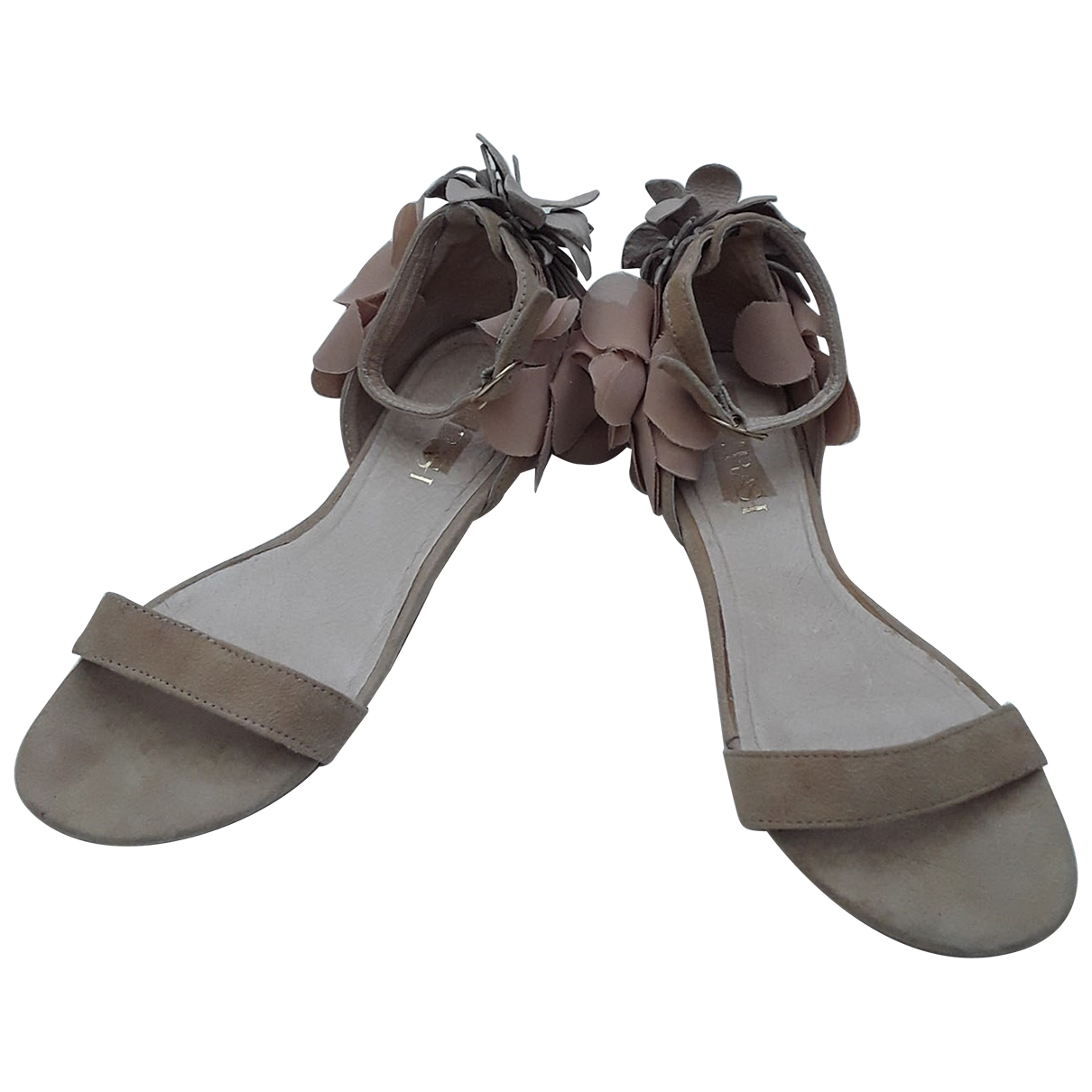Non Signé / Unsigned \N Beige Leather Sandals for Women 36 EU