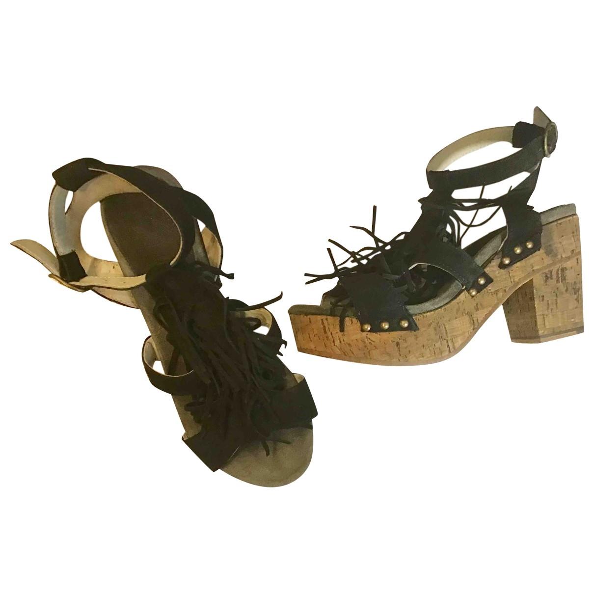 Fiorentini+baker \N Black Leather Sandals for Women 37 EU