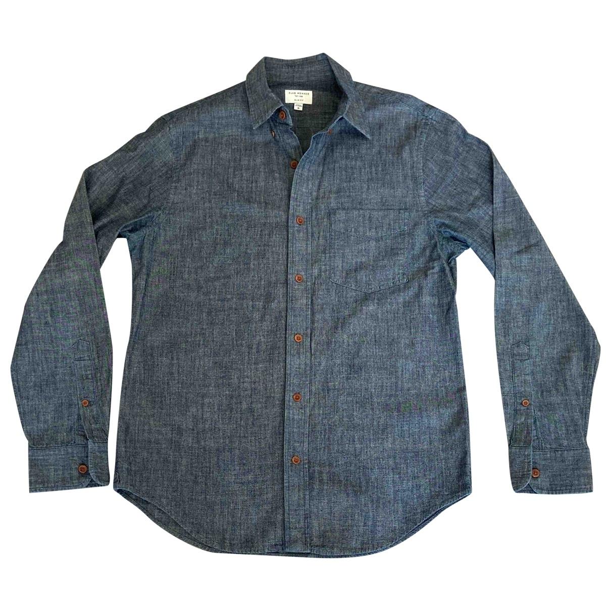Club Monaco \N Blue Cotton Shirts for Men M International