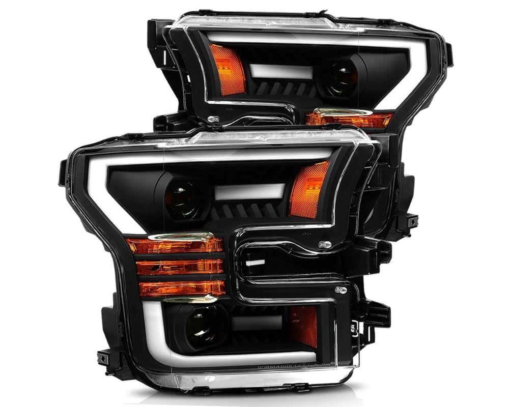Alpharex USA Pro-series Projector Headlights Black Ford F-150 | Ford Raptor 2015-2020