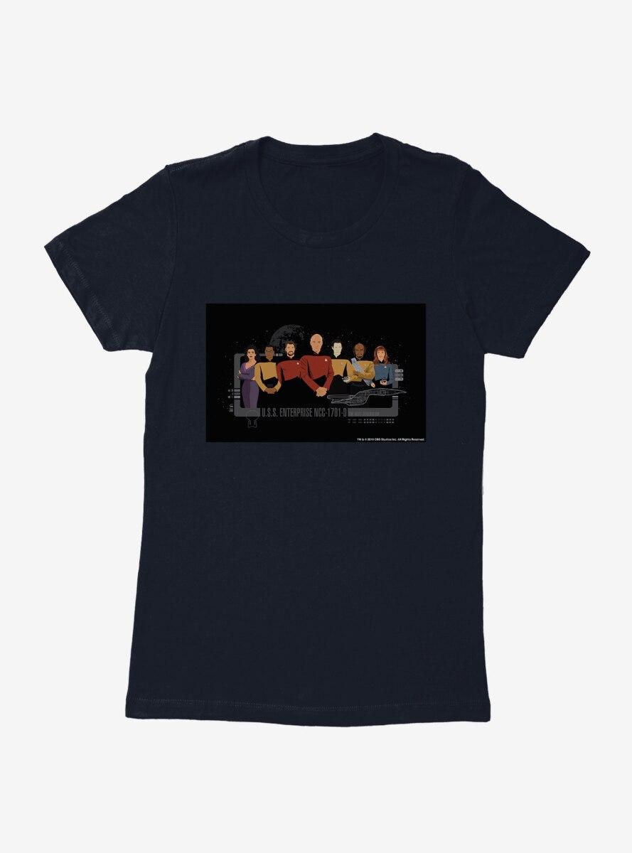 Star Trek Enterprise Team Illustration Womens T-Shirt