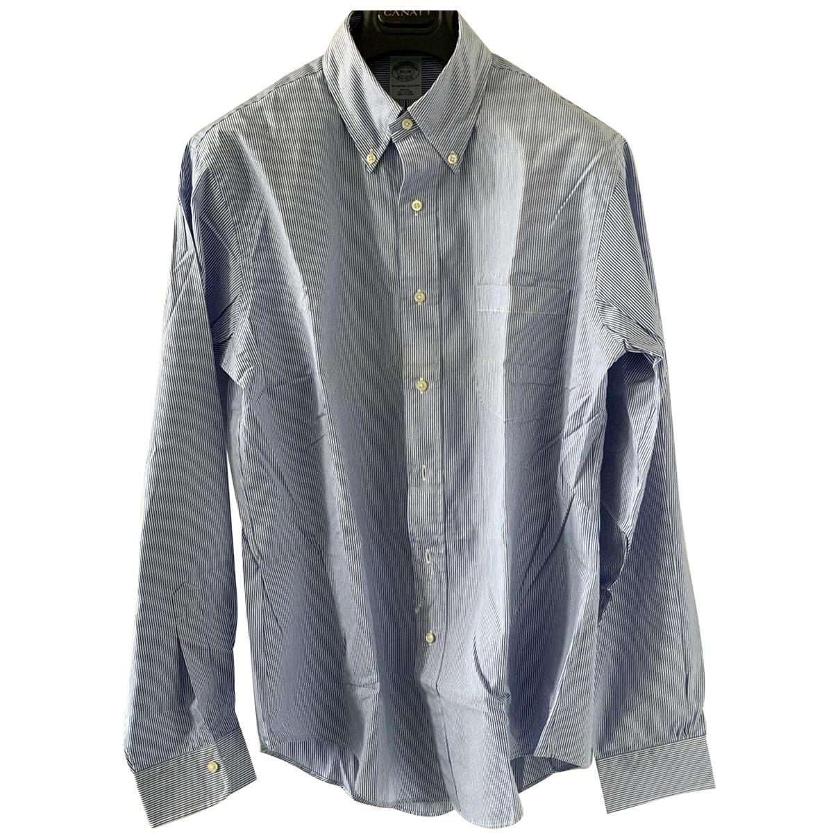 Brooks Brothers \N Blue Cotton Shirts for Men 15.5 UK - US (tour de cou / collar)
