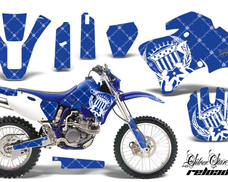 AMR Racing Dirt Bike Graphics Kit Decal Wrap For Yamaha WR 250F |400F |426F 1998-2002áRELOADED WHITE BLUE
