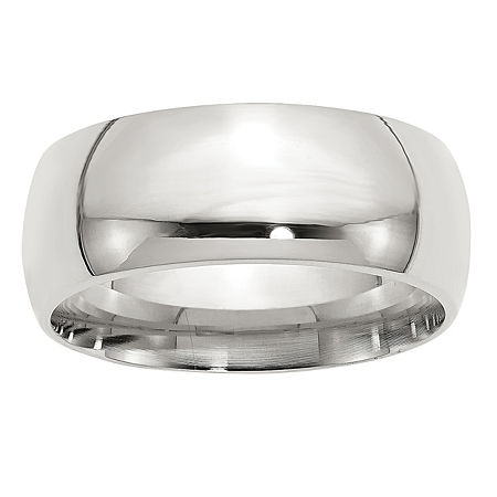 9M Sterling Silver Wedding Band, 5 1/2 , No Color Family