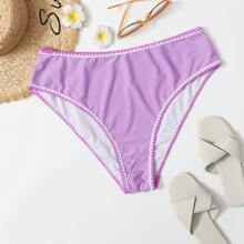 Plus Whip Stitch High Waisted Bikini Panty