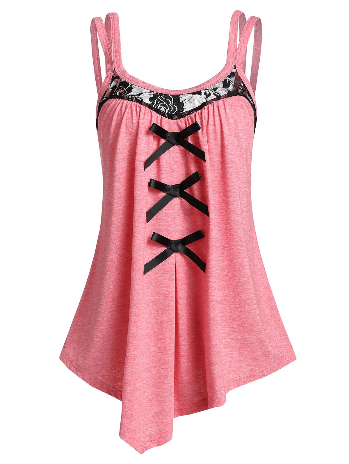 Asymmetrical Bowknot Tank Top
