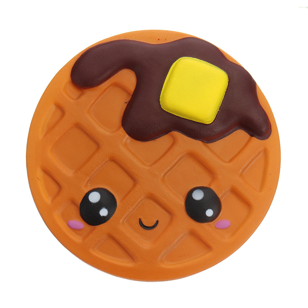 Cartoon Waffle Cake Squishy Slow Rising Soft Scented Toy