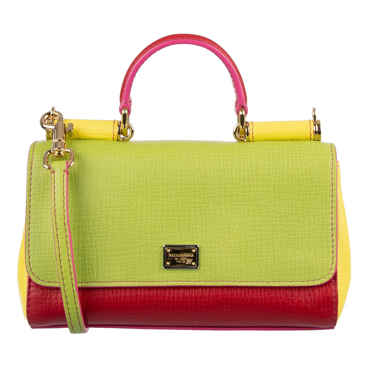 Dolce & Gabbana Sicily Green Leather handbag for Women \N