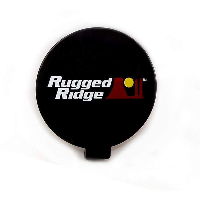 Rugged Ridge 15210.53 Light Cover, 6 Inch, Black, Off Road