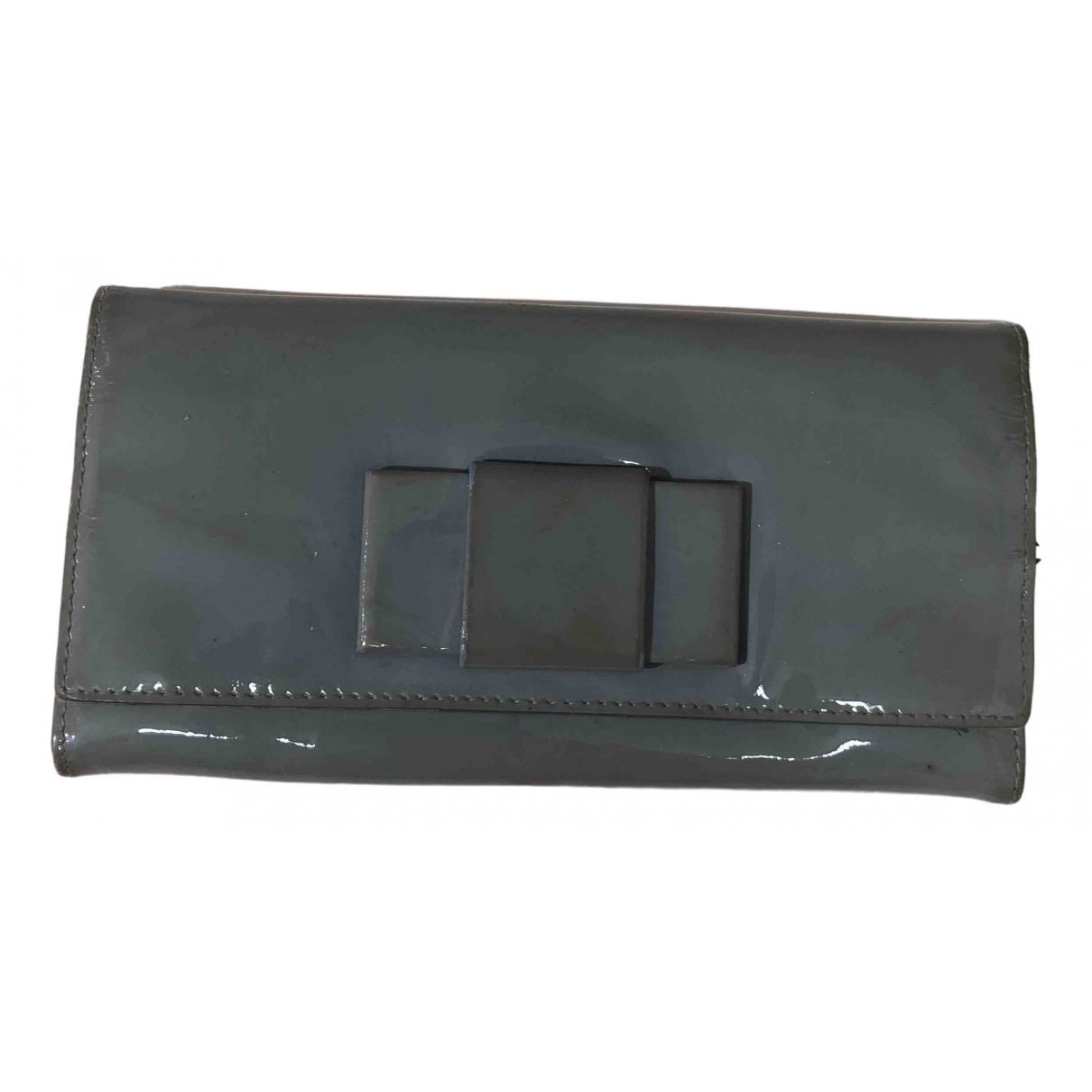 Miu Miu \N Grey Patent leather wallet for Women \N
