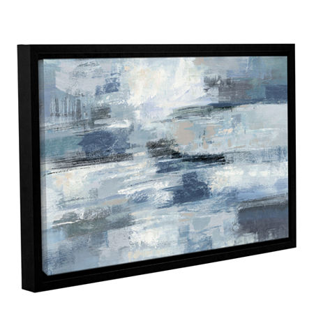 Brushstone Clear Water Indigo and Gray Gallery Wrapped Floater-Framed Canvas Wall Art, One Size , Gray
