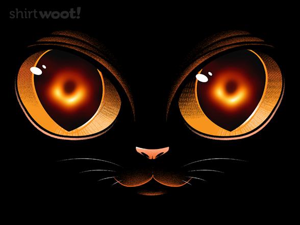 Black Hole Cat T Shirt