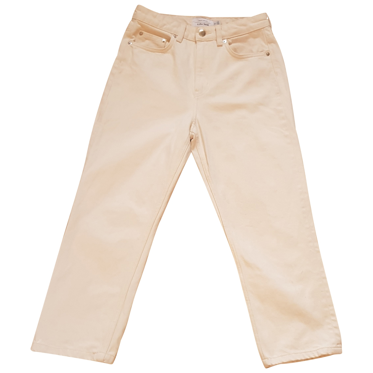& Stories \N White Cotton Jeans for Women 27 US